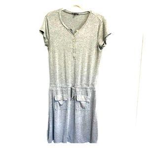 Cupio Gray Dress Drawstring Waist